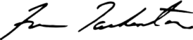 Fran Tarkenton signature